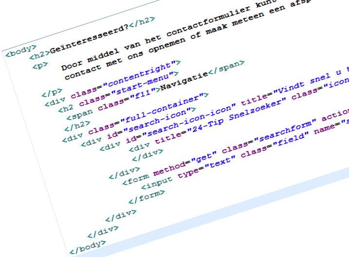 Na afsluiting van de basiscursus Webdesign: HTML – CSS – Java Script weet u wat u kunt doen om bezoekers, bezoeker die bij uw webpagina passen, aan te trekken en hoe belangrijk de juiste trefwoorden zijn