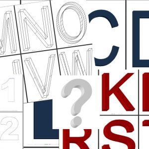 Ons XXL letter package 3.0 is een uitgebreid pakket van letters, contour letters en 3d letters in A4 en A3 formaat.